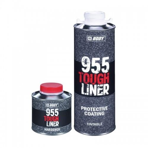 BODY 955 Tough Liner сверхпрочное защитное покрытие с отвердителем, колеруемое, уп. 0,6+0,2л