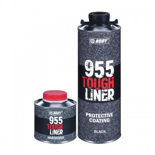 BODY 955 Tough Liner сверхпрочное защитное покрытие с отвердителем, черное, уп. 0,6+0,2л