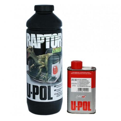 U-POL RAPTOR защитное покрытие (бесцветный) комплект 750 мл + 250 мл, RLT/S1