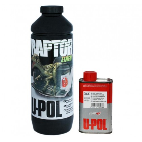 U-POL RAPTOR защитное покрытие (черный) комплект 750 мл + 250 мл, RLB/S1