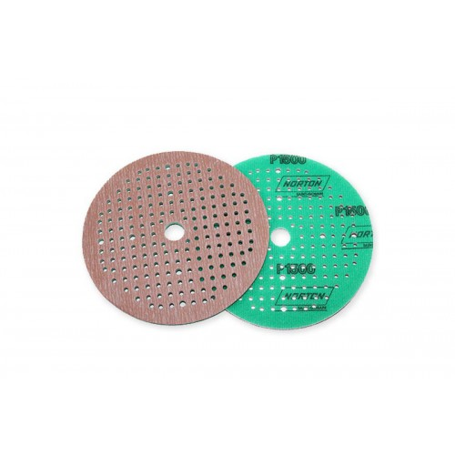 NORTON Круг абразивный на поролоне P1500 зеленый 150мм 180 отверстий